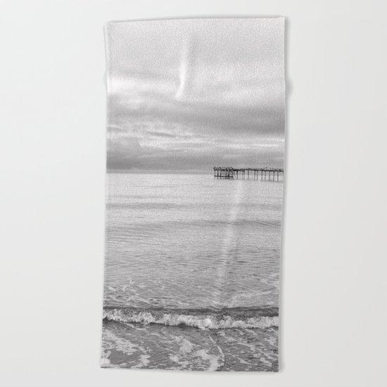Serenity 2 B&W Beach Towel