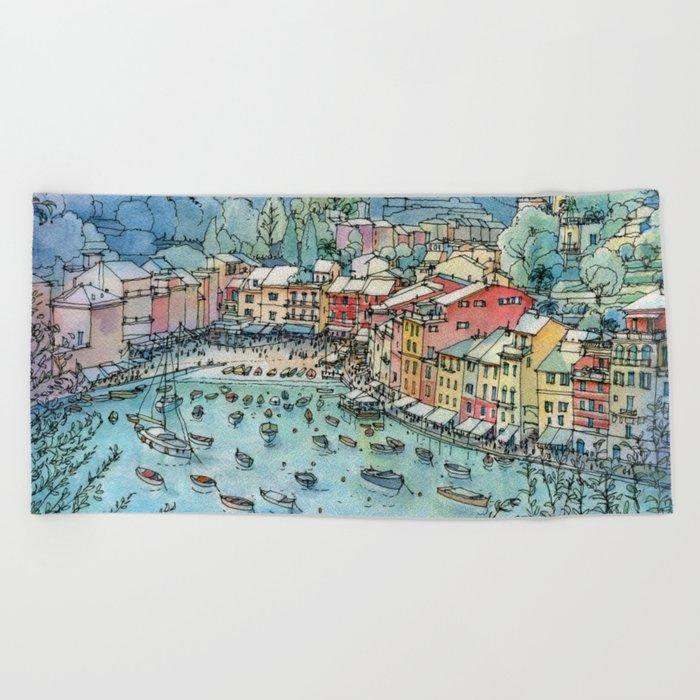 Portofino, Italy Beach Towel