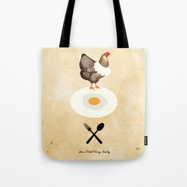 Don't Eat My Baby. Tote Bag