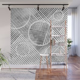 Circle Stripes Wall Mural