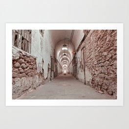 Crimson Prison Corridor Art Print