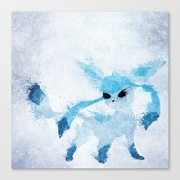 ice Canvas Prints featuring Ice by Melissa Smith