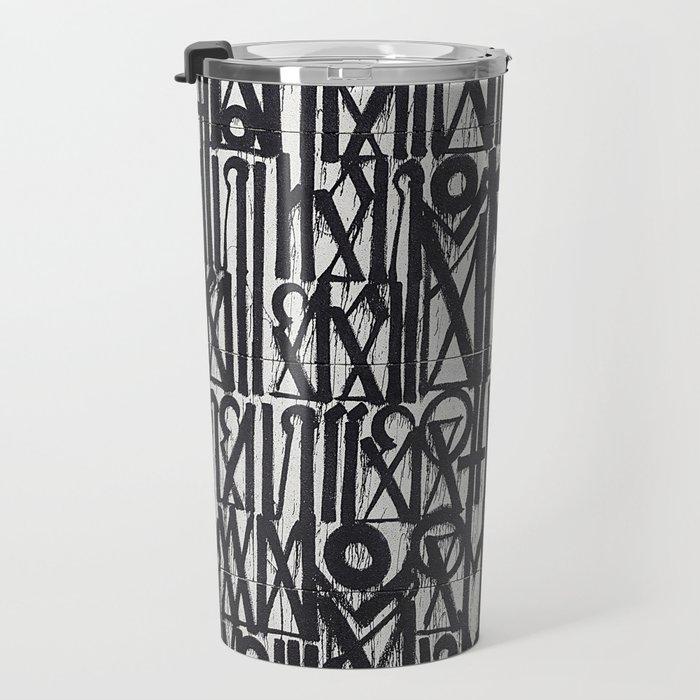 A urban city photograph of wall and a graffiti in Arab style Travel Mug