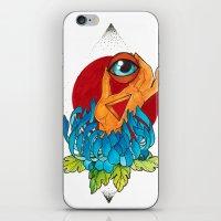 hamsa iPhone & iPod Skins featuring Hamsa by missfortunetattoo