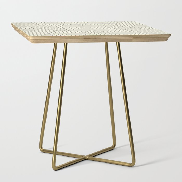 Mudcloth bege Side Table