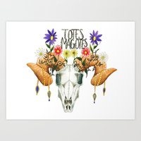 totes Art Prints featuring Totes Magotes by Ariana Victoria Rose