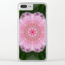 Pink Carnation Mandala Abstract Clear iPhone Case