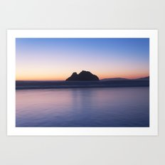 Rocky Sunset Art Print