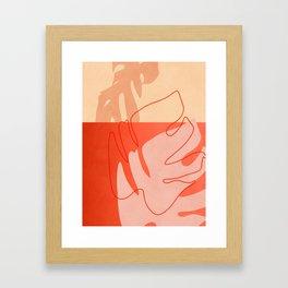 leaves abstract minimal shape art Framed Art Print