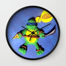 BLUE MASK NINJA Wall Clock