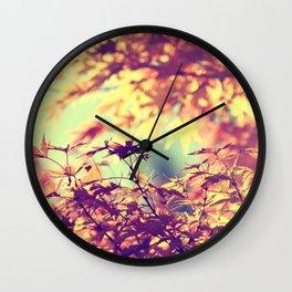 SUBTLE MAPLE - AUTUMN TEAL Wall Clock