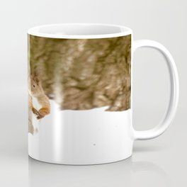 Cute Squirrel In The Forest - Winter Scene #decor #society6 #buyart Coffee Mug