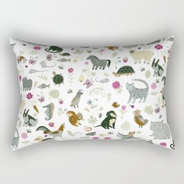 Animal Chart Rectangular Pillow
