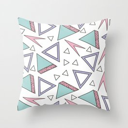 ABSTRACT RETRO 80s / 90s SHAPE PATTERN Throw Pillow