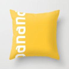 Colors - Banana Throw Pillow