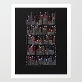 Descending Ladders Of Cities Art Print