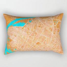 Asuncion, Paraguay, Gold, Blue, City, Map Rectangular Pillow