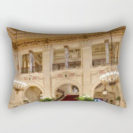 Newport Mansions, Rhode Island - The Breakers Grand Hall by Jeanpaul Ferro Rectangular Pillow