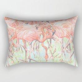 Flamingo Meadow Rectangular Pillow