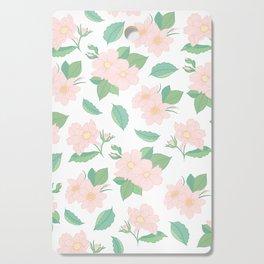 Summer Days Pink Floral Print Cutting Board