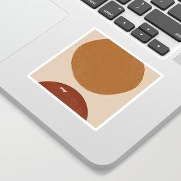 Burnt Orange Sun, New Boho Sticker