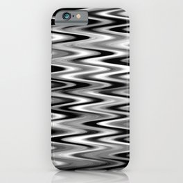WAVY #1 (Black, White & Grays) iPhone Case