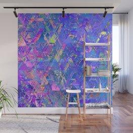 Mirror City Purple Wall Mural