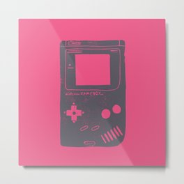 Game Boy on pink Metal Print