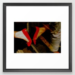 Stepping away from you Framed Art Print