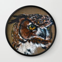 The Great Horned Owl Wall Clock