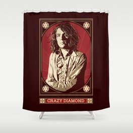 Syd Barrett/Crazy Diamond Shower Curtain