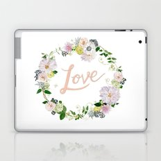 Love Pink Flower Wreath Laptop & iPad Skin