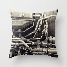 Jet Engine Mechanics Throw Pillow