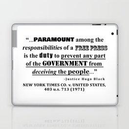 Free Press Quote, NEW YORK TIMES CO. v. UNITED STATES, 403 u.s. 713 (1971) Laptop & iPad Skin