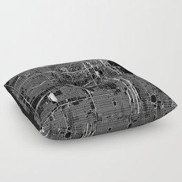 Chicago Black Map Floor Pillow