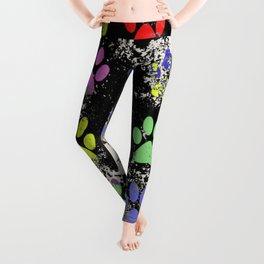 Paw Prints Pattern III - Textured Leggings