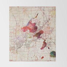 Madison map Throw Blanket