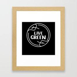 Live Green Climate Framed Art Print