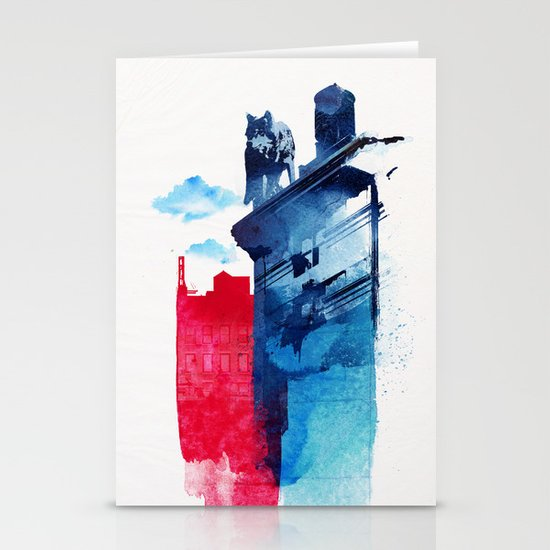 This is my town Stationery Cards