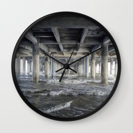 Under the Pleasure Pier Wall Clock
