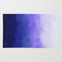 Blue Ombré Wash Rug