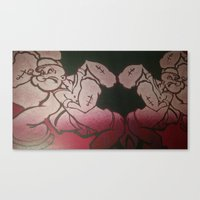 popeye Canvas Prints featuring popeye  by Jide