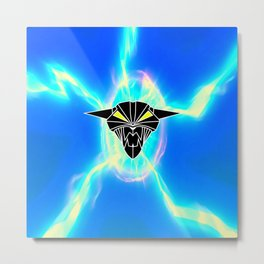 BIONIC DEVIL CAT Metal Print