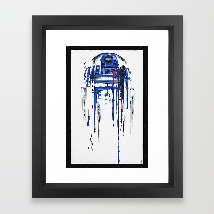 A blue hope 2 Framed Art Print