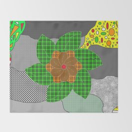 pattern with flower Throw Blanket