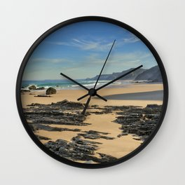 Rock formations on the Costa Vicentina Wall Clock