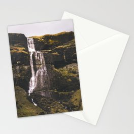 Waterfall Somewhere in Southern Iceland. Stationery Cards