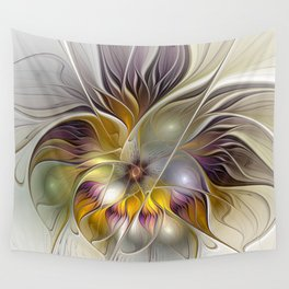 Abstract Fantasy Flower Fractal Art Wall Tapestry