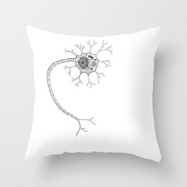 Neuron Structure Throw Pillow