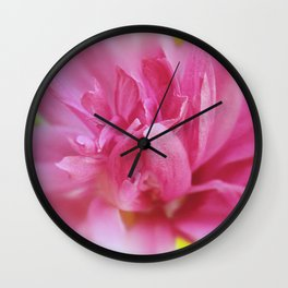 Hot Pink Violet Hibiscus Flower Petals Nature Photography Wall Clock